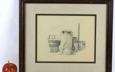 BECK ORIGINAL COUNTRY PENCIL STILL LIFE