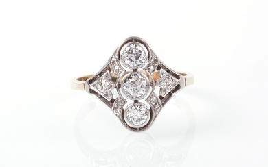 Brillant/Diamant Damenring zus. ca. 0,50 ct