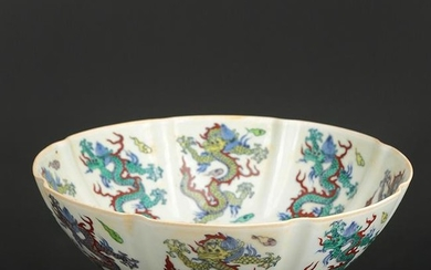 Chinese Doucai Porcelain Bowl