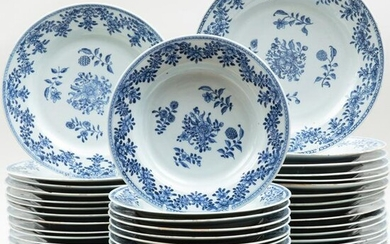 Chinese Export Style Porcelain Part Service