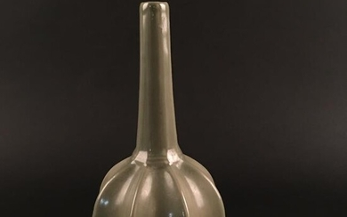 Chinese Green Glazed Melon Bottle