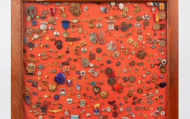 Collection of 350+ Pins, Badges, & Medals, WWII Era