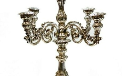 Continental Solid Silver 5-light Candelabra