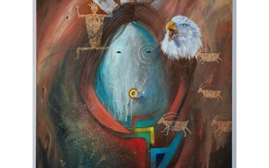 David K. John (Hopi, b. 1963) Painting on Canvas
