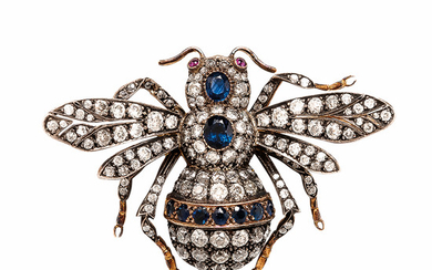Diamond Bee Brooch