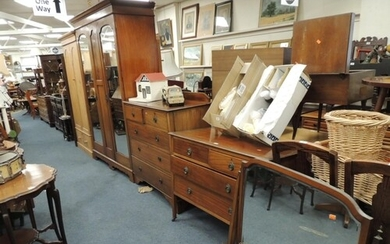 Edwardian mahogany and inlaid three piece bedroom suite comp...
