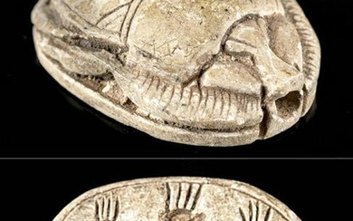 Egyptian New Kingdom Stone Scarab - Bes