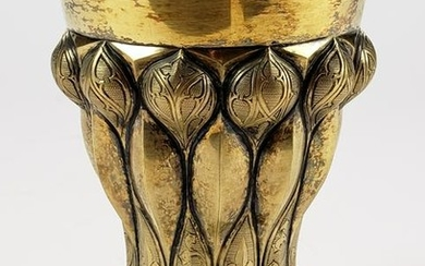 G. Hermeling 800 Silver Gilt Cup, C. 1900