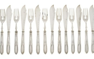 German Silver and Silverplate Fish Service