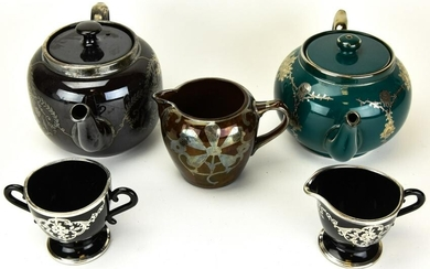 Gibsons English Silver Overlay Teapots and More