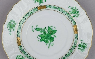 Herend Chinese Bouquet Green Small Dessert Plate