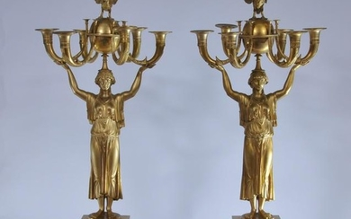 Impressive pair of 19th century French Empire large