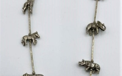 KBN STERLING Silver Noah's Ark Animals Necklace
