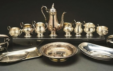 LARGE LOT OF STERLING SILVER.