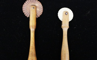 LOT OF (2) 19TH C. PIE CRIMPERS