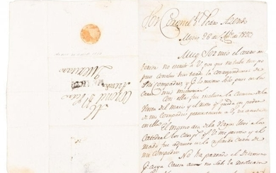 Letter, Mexican political chaos after Independence from
