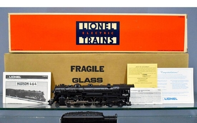 Lionel modern era O scale 18005 Hudson in master carton with display case