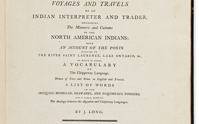 Long John (fl circa 1770) Voyages and Travels of an Indian I