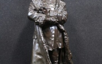 Louis AUBERT dit Louis NOEL (1839-1925). General Louis FAIDHERBE at the Battle of Bapaume on January 3rd 1871. Bronze sculpture with brown patina, signed and dated 1891. Height: 64 cm
