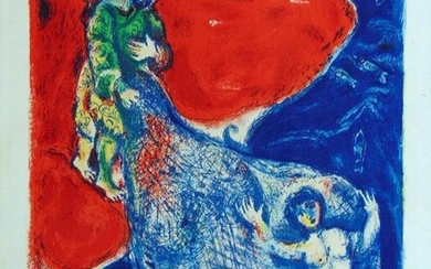 MARC CHAGALL Original Hand Signed Lithograph 1948