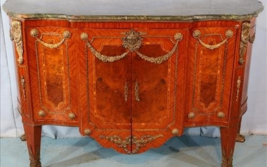 Marble top and ormolu mounted commode