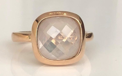 Monzario 18 kt. Pink gold Ring with 4.00 ct Quartz