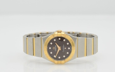 OMEGA Constellation ladies wristwatch in stainless steel...