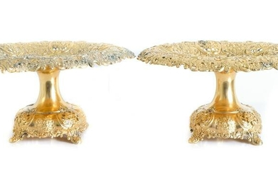 Pair, Tiffany and Co. Sterling Reticulated Tazzas