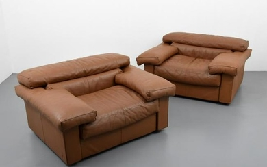"Pair of Afra & Tobia Scarpa ""Erasmo"" Lounge Chairs"