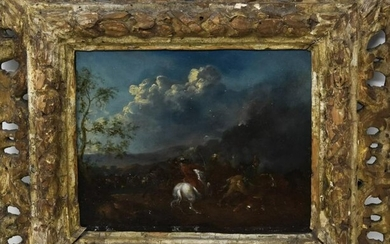 Philips Wouwerman Attributed Oil Painting on Panel