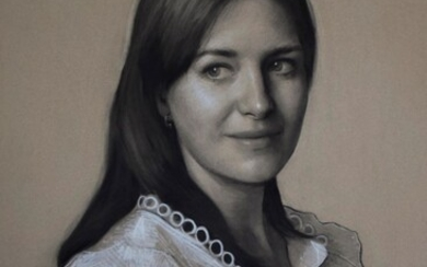 Phoebe Cripps, 2020, Portrait Commission: charcoal and chalk single head and shoulders