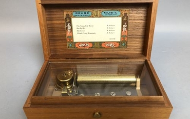 REUGE, Holy Cross. Music box. 4 tunes. 7...