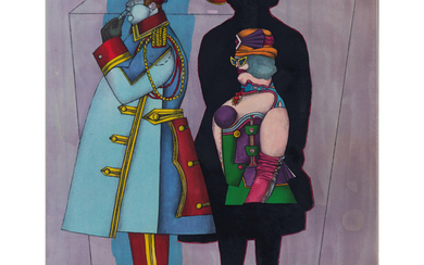 Richard Lindner (1901-1978) Fifth Avenue - 1971 Color lithograph, full margins Signed and numbered XV/LXXV (S): 60 x 50 cm