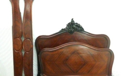 Rosewood Continental Double Bed Frame with carved motifs, si...