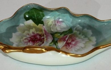 SIGNED LIMOGES HAND-PAINTED PORCELAIN DISH
