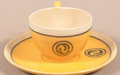 Saturday Evening Girls Paul Revere Pottery Cup & Saucer