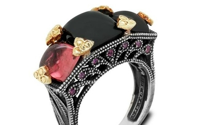 Stambolian Mult-Color Tourmaline and Pink Sapphire