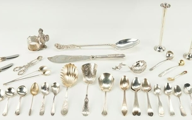 Sterling Flatware, Candlesticks, Napkin Ring and more