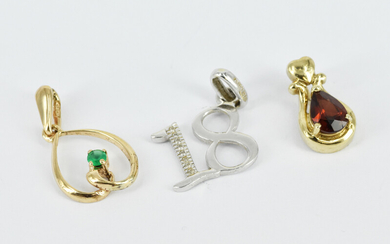 THREE VARIOUS GOLD CHARMS