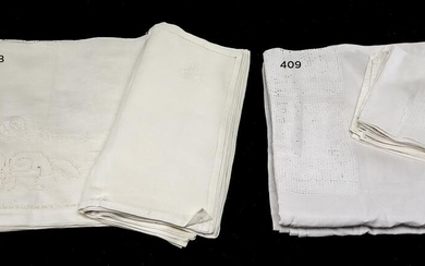 """Tablecloth type """"Lagartera"""" white with 12 sevillettes"""
