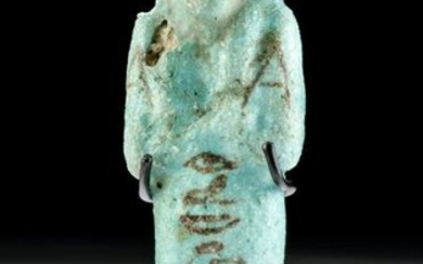 Translated Egyptian Faience Ushabti - for Her-Meret