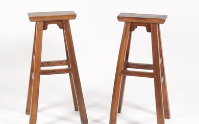 Two Chinese Wood Stands FR3SHLM