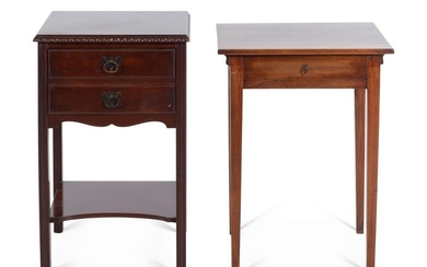 Two Georgian Style Mahogany Side Tables