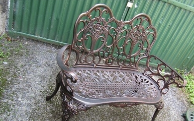 Two Seater Garden Bench Cast Metal