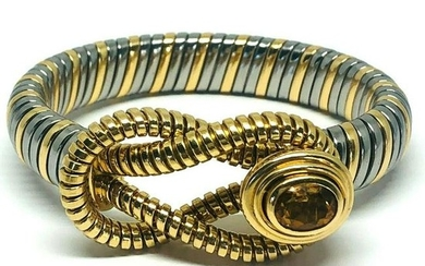 Vintage CARTIER Or Et Acier Yellow Gold Stainless Steel