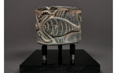 WESTERN ASIATIC STONE BOWL WITH SCORPIONS