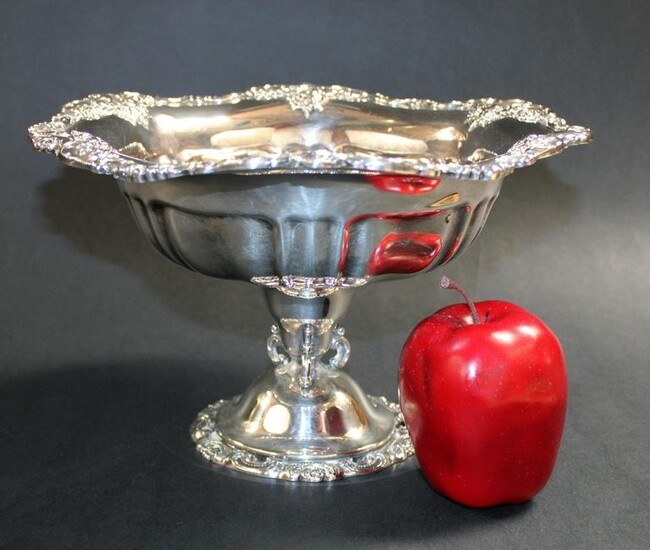Wallace silverplate footed bowl