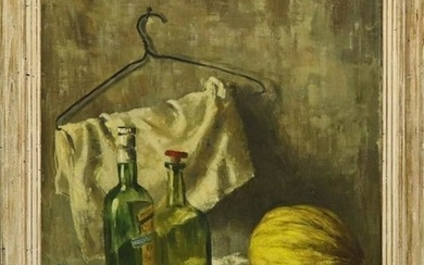 "Walter Stuempfig Oil ""Still Life With Squash"""