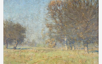William Langson Lathrop (American, 1859–1938) Indian Summer Signed 'W...