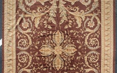 20TH C. HAND-KNOTTED FRENCH AUBUSSON RUG OR CARPET